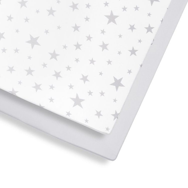 2 Pack Cot & Cot Bed Fitted Sheet – Star
