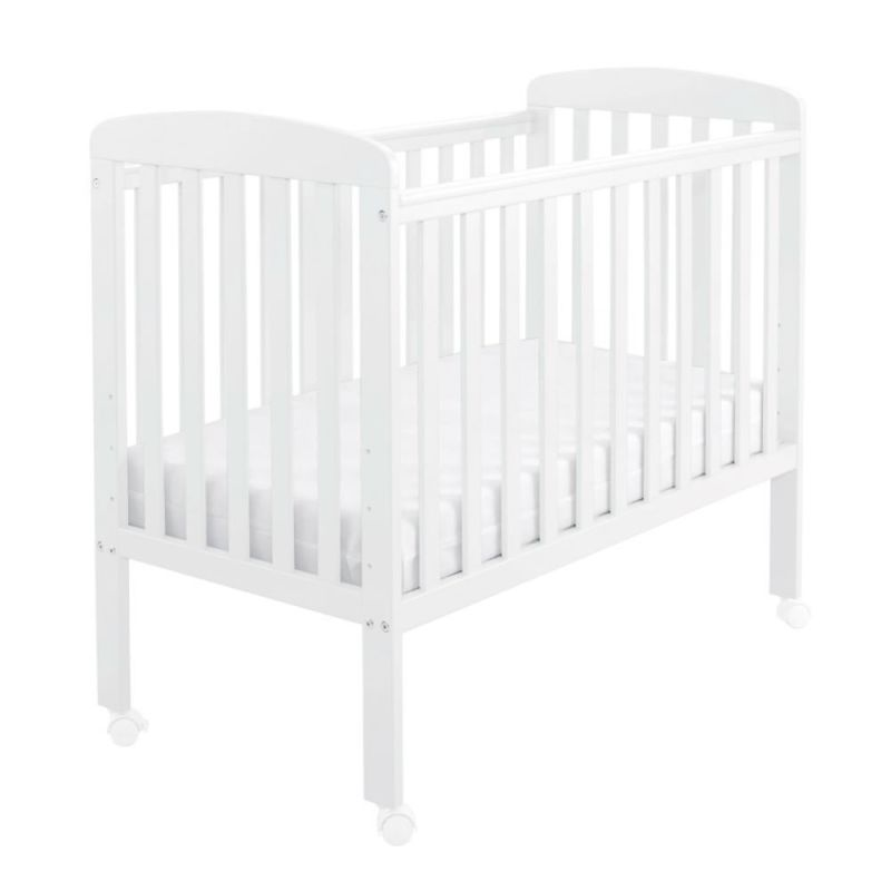 Space Saver Cot with Wheels (White)